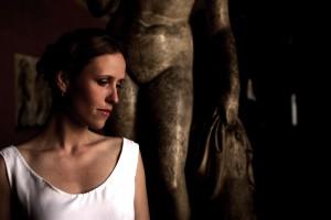 Nina at Thorvaldsens Museum. Photo: Claus Muldstrup